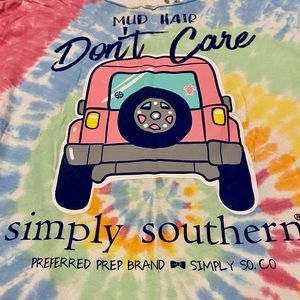 Simply Southern Jeep t-shirt - cut collar